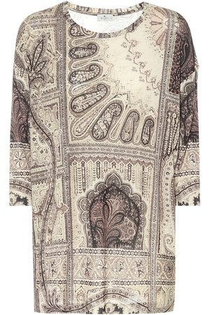 Etro Printed jersey top
