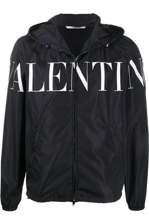 VALENTINO Logo print hooded jacket