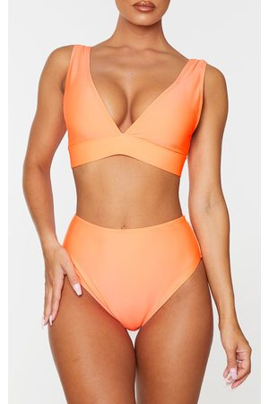 PRETTYLITTLETHING Coral Mix & Match High Waist Bikini Bottoms