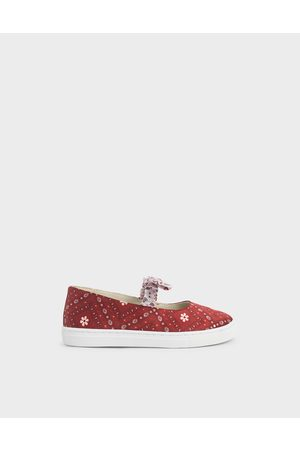 CHARLES & KEITH Summer 2020 Responsible Collection: ' Knotted Bandana Print Slip-On Sneakers