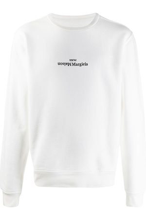Maison Margiela Upside-down embroidered logo sweatshirt