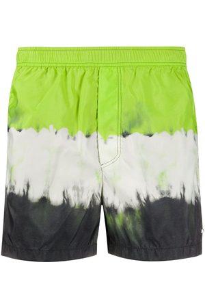 VALENTINO Tie-dye print swim shorts