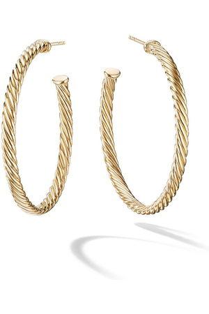 David Yurman 18kt yellow gold medium Cablespira hoop earrings