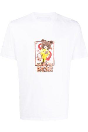 Neil Barrett Kung Fu Bear print T-shirt