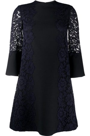VALENTINO Two-tone floral lace dress