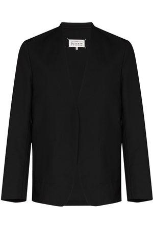 Maison Margiela Men Blazers - Collarless single-breasted blazer