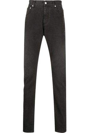 Alexander McQueen Men Slim - Logo-patch slim-fit jeans