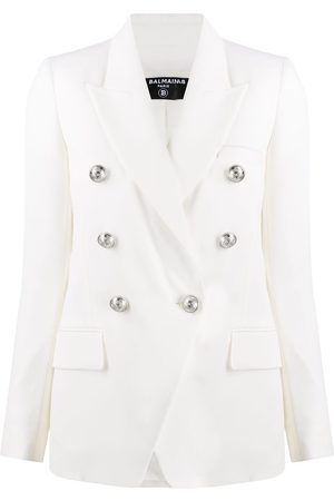 Balmain Embossed buttons double-breasted blazer