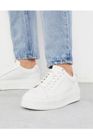Vagabond Judy flatform sneakers in white leather