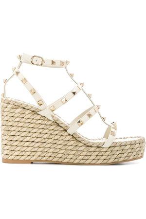 VALENTINO GARAVANI Women Wedges - Rockstud rope wedge sandals