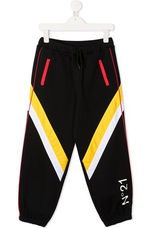 Nº21 Colour-block track pants
