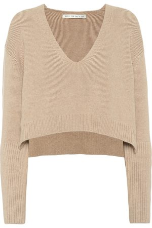 LIVE THE PROCESS Cropped cotton-blend sweater