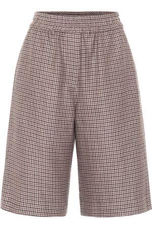 Brunello Cucinelli Linen and wool-blend Bermuda shorts