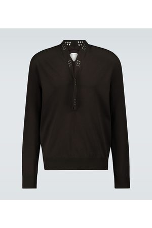 Bottega Veneta Sweater with studded collar