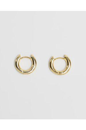 Luv AJ Plain Amalfi Huggie Hoop Earrings - Jewellery Plain Amalfi Huggie Hoop Earrings