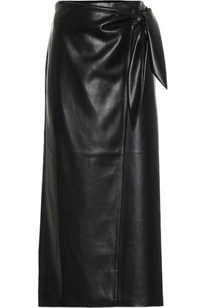 Nanushka Amas faux-leather midi skirt