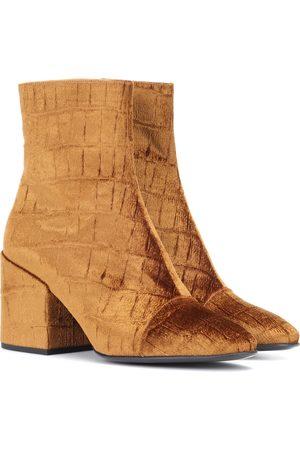 DRIES VAN NOTEN Velvet ankle boots