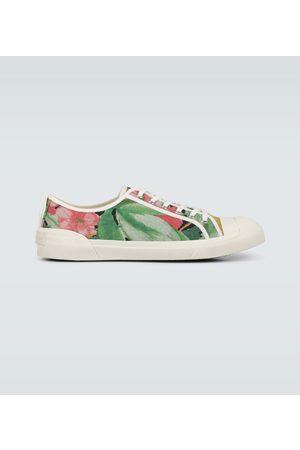 DRIES VAN NOTEN Floral printed canvas sneakers