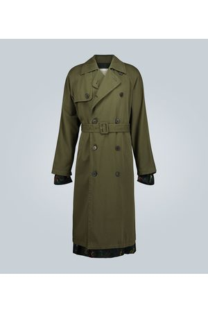 DRIES VAN NOTEN Double-breasted cotton trench coat