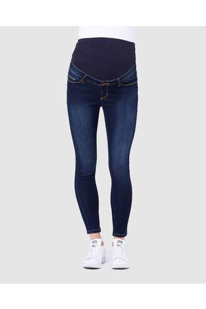 Ripe Maternity Rebel Ankle Grazer Jeggings - Jeans (Indigo) Rebel Ankle Grazer Jeggings