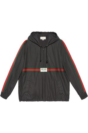 Gucci Men Jackets - Coated cotton windbreaker with label