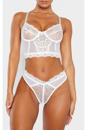 PRETTYLITTLETHING Lace Mesh Thong
