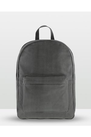 Cobb & Co Byron Soft Leather Backpack - Bags (CHARCOAL) Byron Soft Leather Backpack