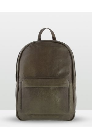 Cobb & Co Byron Soft Leather Backpack - Bags (OLIVE) Byron Soft Leather Backpack