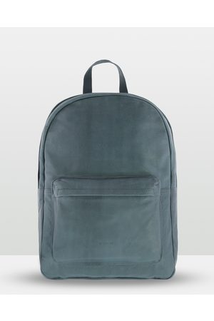 Cobb & Co Byron Soft Leather Backpack - Bags (STEEL) Byron Soft Leather Backpack