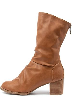 I LOVE BILLY Women Ankle Boots - Joan Il Tan Boots Womens Shoes Casual Calf Boots