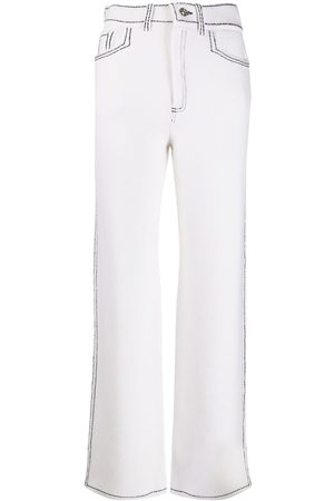 Barrie Denim-inspired knitted straight trousers