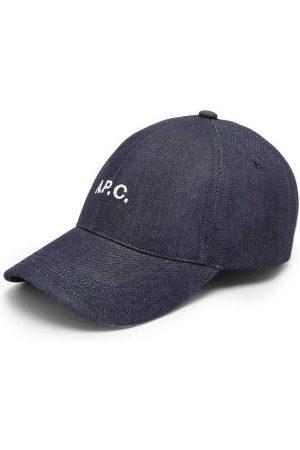 A.P.C. Charlie Logo-embroidered Denim Baseball Cap - Mens - Dark