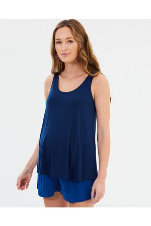 Bamboo Body Bamboo Relaxed Singlet - T-Shirts & Singlets (Navy) Bamboo Relaxed Singlet