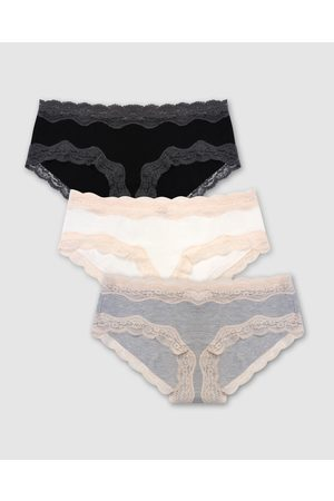 B Free Women Hipsters - Cotton Low Rise Hipster Brief 3 Pack - Hipster Briefs ( , & ) Cotton Low Rise Hipster Brief - 3 Pack