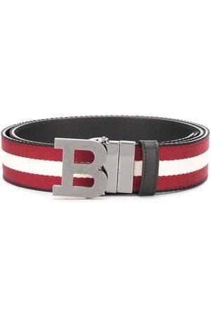 Bally Men Belts - Striped logo-buckle belt