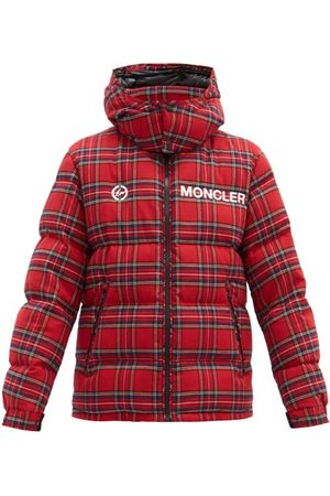7 MONCLER FRAGMENT HIROSHI FUJIWARA Mayak Oversized Tartan-flannel Quilted Down Jacket - Mens