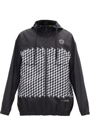 7 MONCLER FRAGMENT HIROSHI FUJIWARA Kaplan Hooded Tile-print Windbreaker Jacket - Mens