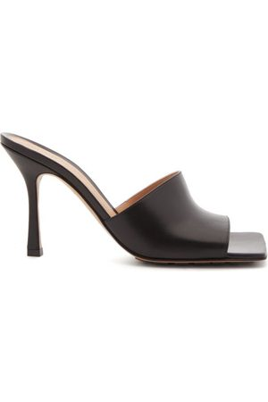 Bottega Veneta Stretch Square-toe Leather Mules - Womens