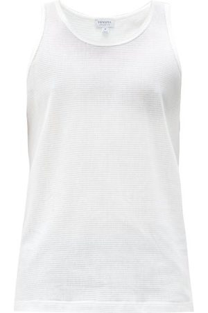 Sunspel Cellular-cotton Tank Top - Mens