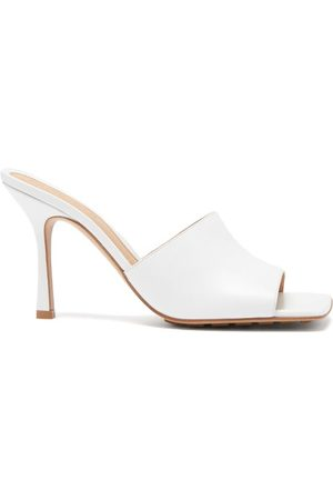 Bottega Veneta Square-toe Leather Mule Sandals - Womens