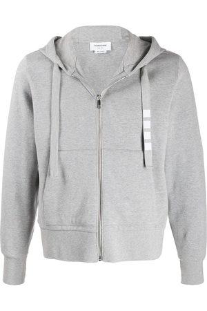 Thom Browne Men Hoodies - 4-Bar double-knit zip-up hoodie