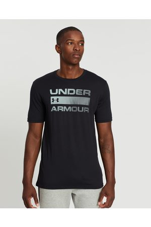 Under Armour Men Short Sleeve - Team Issue Wordmark Short Sleeve Tee - Short Sleeve T-Shirts ( & Rhino Gray) Team Issue Wordmark Short Sleeve Tee