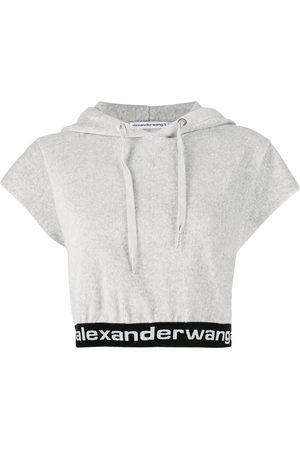 Alexander Wang Cropped short-sleeve hoodie