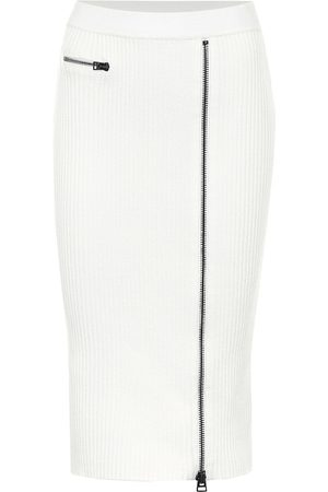 Tom Ford Wool-blend ribbed-knit midi skirt
