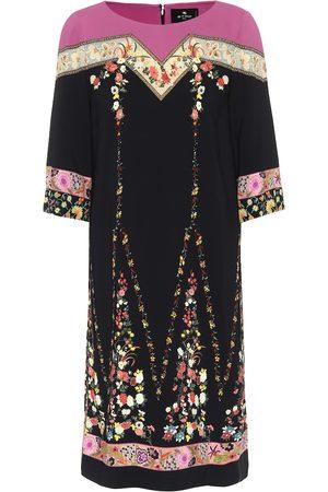 Etro Floral stretch-crêpe dress