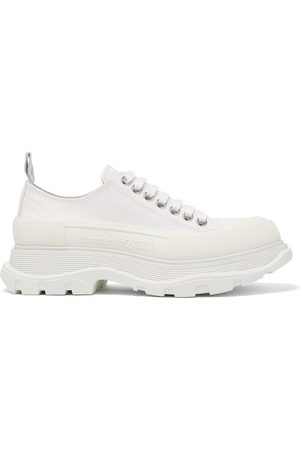 Alexander McQueen Hybrid Slick Chunky-sole Canvas Trainers - Womens