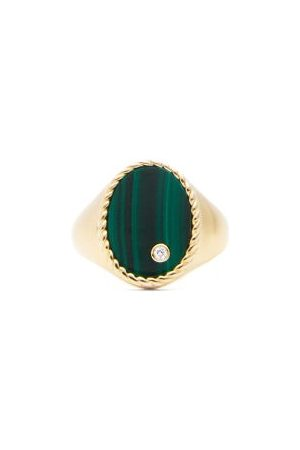 YVONNE LÉON Diamond, Malachite & Signet Ring - Womens
