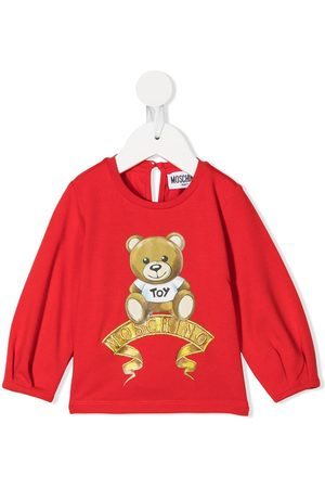 Moschino Teddy bear logo long-sleeved top