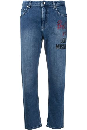 Love Moschino Logo print straight-leg jeans