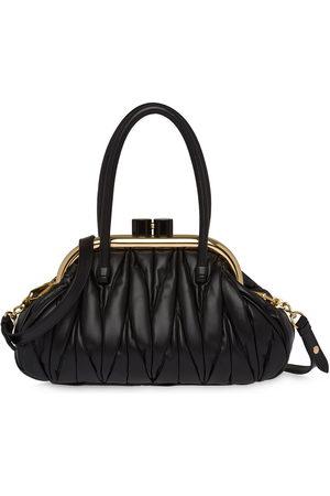 Miu Miu Women Tote Bags - Matelassé-effect clasp tote bag